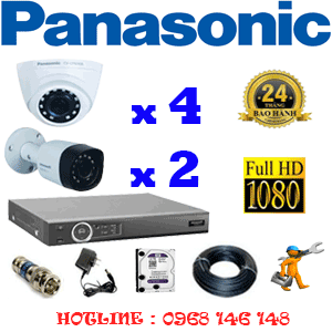 Lắp Đặt Trọn Bộ 6 Camera Panasonic 2.0Mp (Pan-24324)-PAN-24324