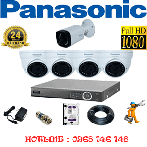 Lắp Đặt Trọn Bộ 5 Camera Panasonic 2.0Mp (Pan-24516)-PAN-24516