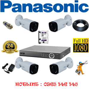 Lắp Đặt Trọn Bộ 4 Camera Panasonic 2.0Mp (Pan-24600)-PAN-24600