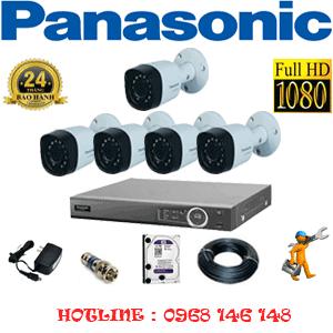 Lắp Đặt Trọn Bộ 5 Camera Panasonic 2.0Mp (Pan-25400)-PAN-25400