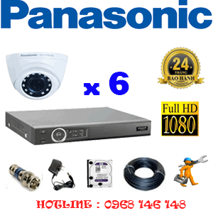 Lắp Đặt Trọn Bộ 6 Camera Panasonic 2.0Mp (Pan-26300)-PAN-26300