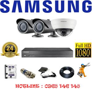 TRỌN BỘ 3 CAMERA IP SAMSUNG 2.0MP (SAM-21122)-SAM-21122