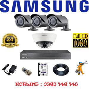 Lắp Đặt Trọn Bộ 4 Camera Ip Samsung 2.0Mp (Sam-21132)-SAM-21132