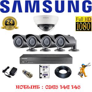 Lắp Đặt Trọn Bộ 5 Camera Ip Samsung 2.0Mp (Sam-21142)-SAM-21142