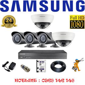 Lắp Đặt Trọn Bộ 5 Camera Ip Samsung 2.0Mp (Sam-22132)-SAM-22132