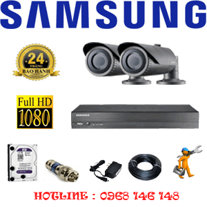 TRỌN BỘ 2 CAMERA IP SAMSUNG 2.0MP (SAM-22200)-SAM-22200