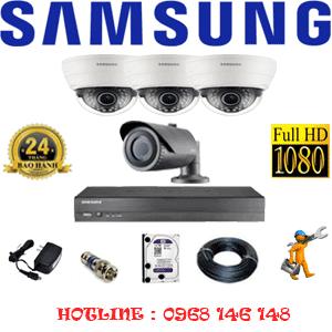 Lắp Đặt Trọn Bộ 4 Camera Ip Samsung 2.0Mp (Sam-23112)-SAM-23112