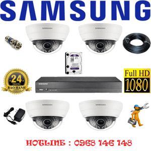 Lắp Đặt Trọn Bộ 4 Camera Ip Samsung 2.0Mp (Sam-24100)-SAM-24100