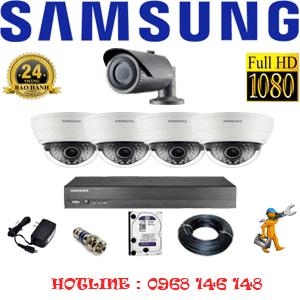 Lắp Đặt Trọn Bộ 5 Camera Ip Samsung 2.0Mp (Sam-24112)-SAM-24112