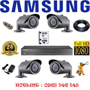 TRỌN BỘ 4 CAMERA IP SAMSUNG 2.0MP (SAM-24200)-SAM--24200
