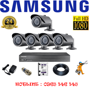 Lắp Đặt Trọn Bộ 5 Camera Ip Samsung 2.0Mp (Sam-25200)-SAM-25200