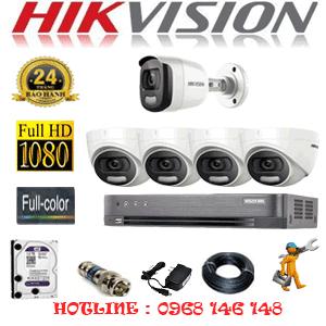 Lắp Đặt Trọn Bộ 5 Camera Hikvision 2.0Mp (Hik-24516)-HIK-24516