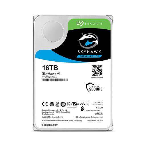 Ổ Cứng Hdd Seagate Skyhawk Ai 16Tb 3.5″ Sata (St16000Ve000)-Ổ cứng HDD Seagate SKYHAWK AI 16TB Sata (ST16000VE000)