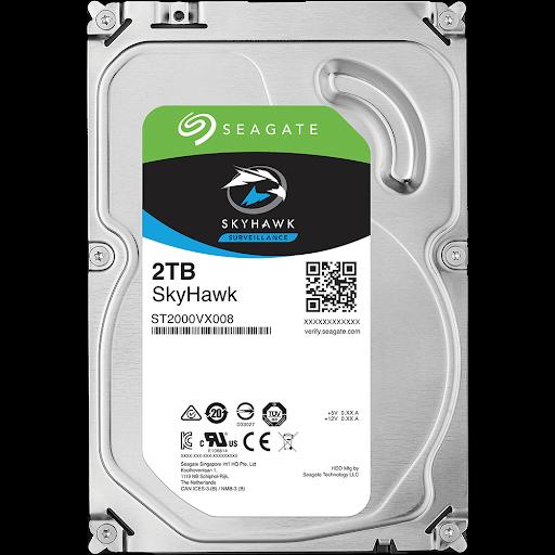 Ổ Cứng Hdd Seagate Skyhawk 2Tb 3.5″ Sata 3 – St2000Vx008-Ổ cứng HDD Camera Seagate Skyhawk 2TB SATA (ST2000VX008)