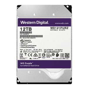 Ổ Cứng Hdd Western Digital Purple 12Tb 3.5″ Sata 3 – Wd121Purz-Ổ cứng HDD Camera WD Purple 12TB Sata3 7200rpm (Wd121Purz)