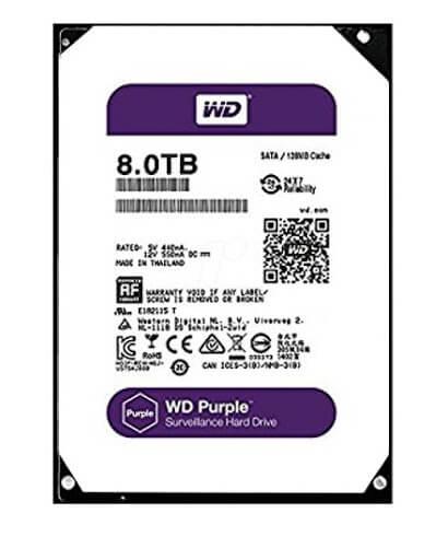 Ổ Cứng Hdd Western Digital Purple 8Tb 3.5″ Sata 3 – Wd80Purz-Ổ cứng HDD Camera WD Purple 8TB Sata3 5400rpm (WD80PURX)