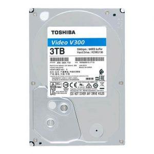 Ổ Cứng Hdd Toshiba V300 3Tb 3.5″ Sata 3 – Hdwu130Uzsva-Ổ cứng HDD Toshiba V300 Video Streaming 3TB SATA 5940RPM 64MB (HDWU130UZSVA)