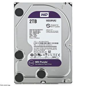 Ổ Cứng Hdd Western Digital Wd 2Tb 3.5″ Sata 3 – Wd20Purz-HDD Camera WD Purple 2TB Sata3 5400rpm (WD20PURZ)