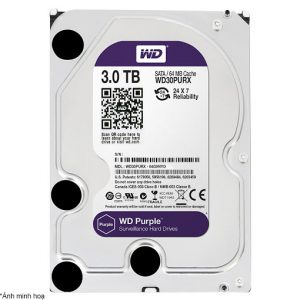 Ổ Cứng Hdd Western Digital Purple 3Tb 3.5″ Sata 3 – Wd30Purz-HDD Camera WD Purple 3TB Sata3 5400rpm (WD30PURZ)