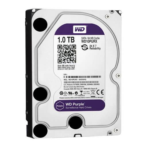 Ổ Cứng Hdd Western Digital Purple 1Tb 3.5″ Sata 3 – Wd10Purz-HDD Western Digital Purple 1TB - WD10PURZ