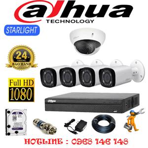 Lắp Đặt Trọn Bộ 5 Camera Dahua 2.0Mp (Dah-2117418)-DAH-2117418