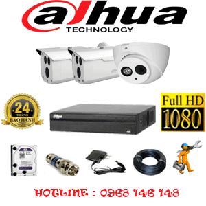 Lắp Đặt Trọn Bộ 3 Camera Dahua 2.0Mp (Dah-2119220)-DAH-2119220