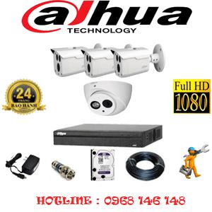 Lắp Đặt Trọn Bộ 4 Camera Dahua 2.0Mp (Dah-2119320)-DAH-2119320