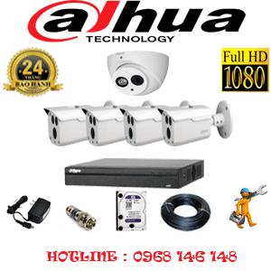 Lắp Đặt Trọn Bộ 5 Camera Dahua 2.0Mp (Dah-2119420)-DAH-2119420