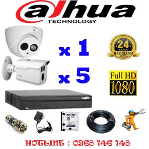 Lắp Đặt Trọn Bộ 6 Camera Dahua 2.0Mp (Dah-2119520)-DAH-2119520