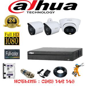 Lắp Đặt Trọn Bộ 3 Camera Dahua 2.0Mp (Dah-2121222)-DAH-2121222