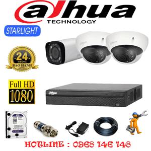 Lắp Đặt Trọn Bộ 3 Camera Dahua 2.0Mp (Dah-2217118)-DAH-2217118