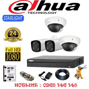 Lắp Đặt Trọn Bộ 4 Camera Dahua 2.0Mp (Dah-2217218)-DAH-2217218