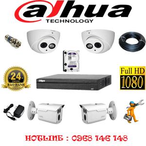 Lắp Đặt Trọn Bộ 4 Camera Dahua 2.0Mp (Dah-2219220)-DAH-2219220