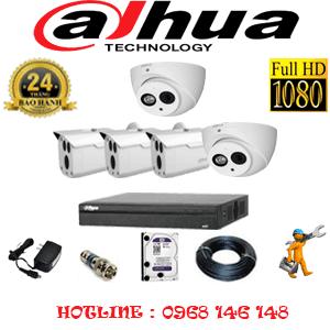 Lắp Đặt Trọn Bộ 5 Camera Dahua 2.0Mp (Dah-2219320)-DAH-2219320