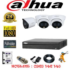 Lắp Đặt Trọn Bộ 3 Camera Dahua 2.0Mp (Dah-2221122)-DAH-2221122