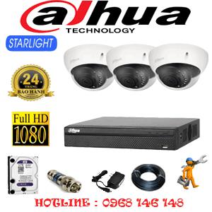 Lắp Đặt Trọn Bộ 3 Camera Dahua 2.0Mp (Dah-231700)-DAH-231700