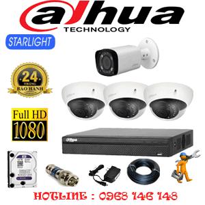 Lắp Đặt Trọn Bộ 4 Camera Dahua 2.0Mp (Dah-2317118)-DAH-2317118