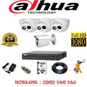 Lắp Đặt Trọn Bộ 4 Camera Dahua 2.0Mp (Dah-2319120)-DAH-2319120