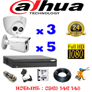 Lắp Đặt Trọn Bộ 8 Camera Dahua 2.0Mp (Dah-2319520)-DAH-2319520