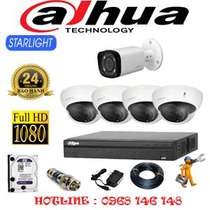Lắp Đặt Trọn Bộ 5 Camera Dahua 2.0Mp (Dah-2417118)-DAH-2417118