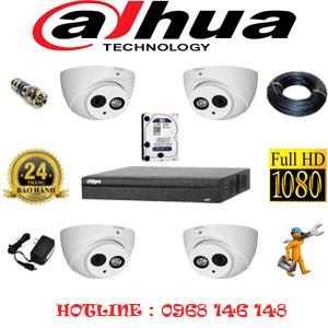 Lắp Đặt Trọn Bộ 4 Camera Dahua 2.0Mp (Dah-241900)-DAH-241900