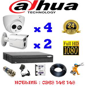 Lắp Đặt Trọn Bộ 6 Camera Dahua 2.0Mp (Dah-2419220)-DAH-2419220