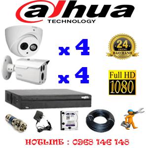 Lắp Đặt Trọn Bộ 8 Camera Dahua 2.0Mp (Dah-2419420)-DAH-2419420
