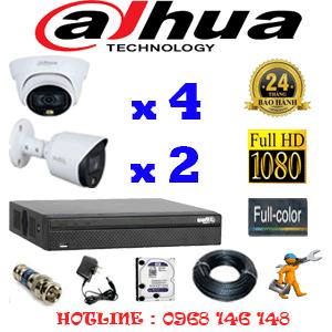 Lắp Đặt Trọn Bộ 6 Camera Dahua 2.0Mp (Dah-2421222)-DAH-2421222
