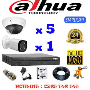 Lắp Đặt Trọn Bộ 6 Camera Dahua 2.0Mp (Dah-2517118)-DAH-2517118