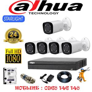 Lắp Đặt Trọn Bộ 5 Camera Dahua 2.0Mp (Dah-251800)-DAH-251800