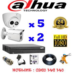 Lắp Đặt Trọn Bộ 7 Camera Dahua 2.0Mp (Dah-2519220)-DAH-2519220
