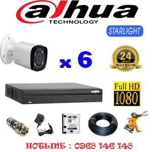 Lắp Đặt Trọn Bộ 6 Camera Dahua 2.0Mp (Dah-261800)-DAH-261800
