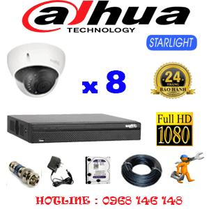 Lắp Đặt Trọn Bộ 8 Camera Dahua 2.0Mp (Dah-281700)-DAH-281700