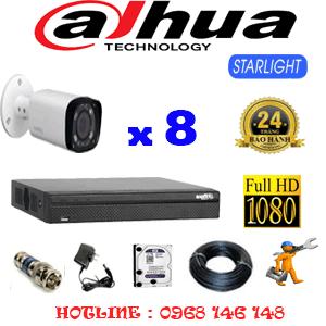Lắp Đặt Trọn Bộ 8 Camera Dahua 2.0Mp (Dah-281800)-DAH-281800